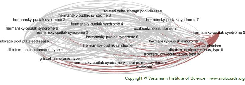 Diseases related to Hermansky-Pudlak Syndrome 5