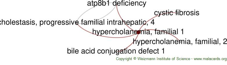 Diseases related to Hypercholanemia, Familial 1