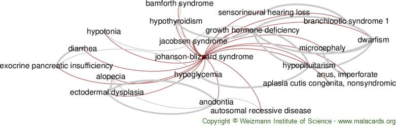 Diseases related to Johanson-Blizzard Syndrome