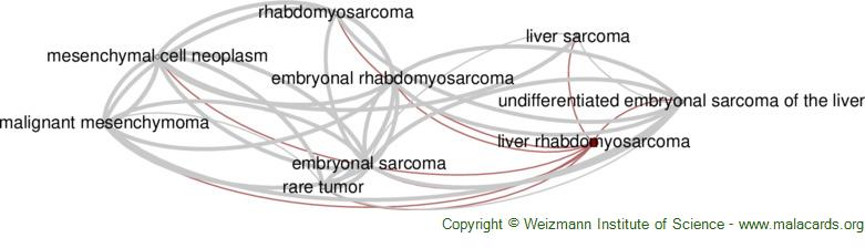 Diseases related to Liver Rhabdomyosarcoma