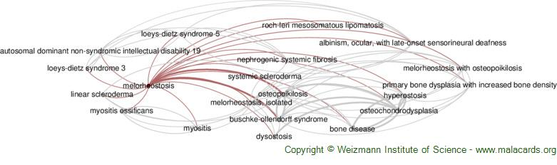 Diseases related to Melorheostosis