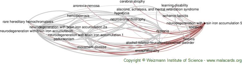 Diseases related to Neurodegeneration with Brain Iron Accumulation 5