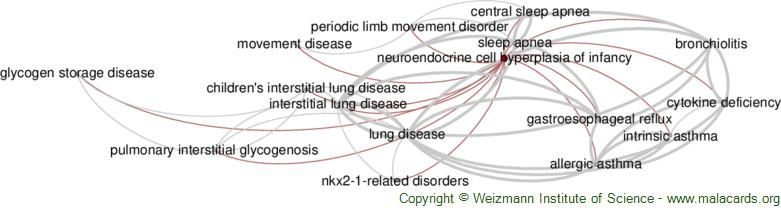 Diseases related to Neuroendocrine Cell Hyperplasia of Infancy