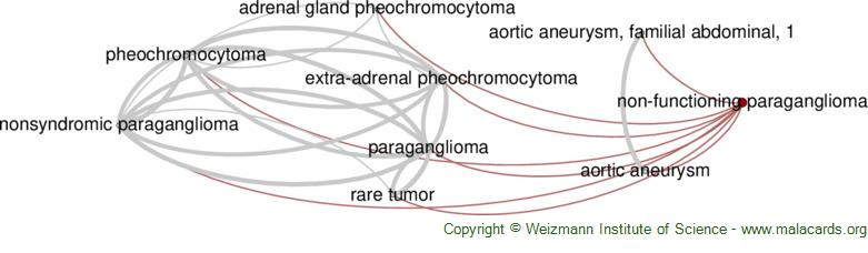Diseases related to Non-Functioning Paraganglioma