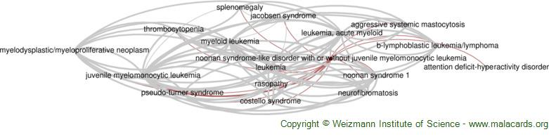 Diseases related to Noonan Syndrome-Like Disorder with or Without Juvenile Myelomonocytic Leukemia