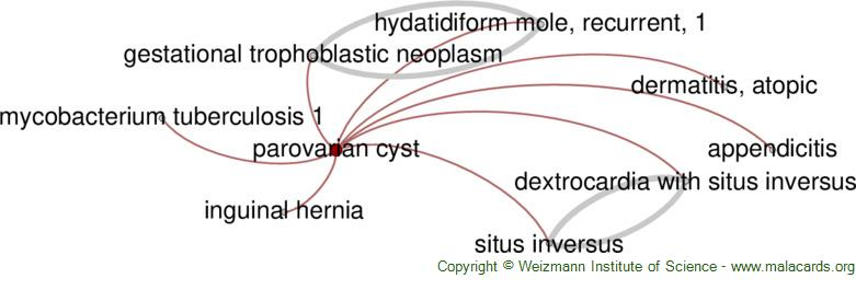 Diseases related to Parovarian Cyst