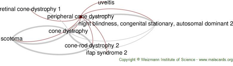 Diseases related to Peripheral Cone Dystrophy