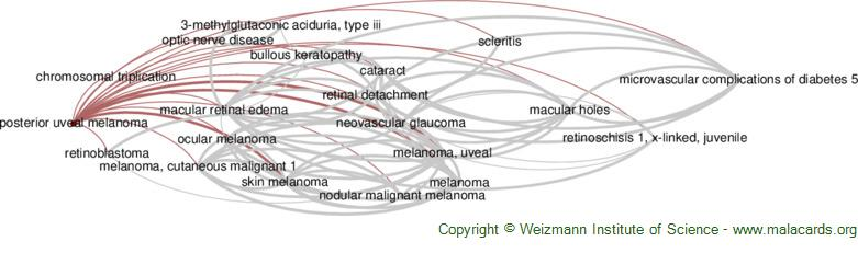 Diseases related to Posterior Uveal Melanoma