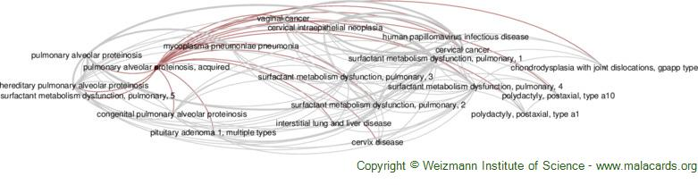 Diseases related to Pulmonary Alveolar Proteinosis, Acquired