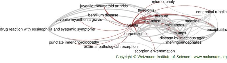 Diseases related to Rubella