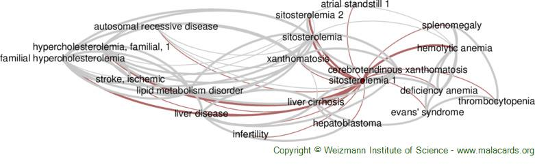 Diseases related to Sitosterolemia 1