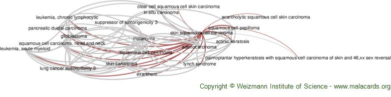 Diseases related to Skin Squamous Cell Carcinoma