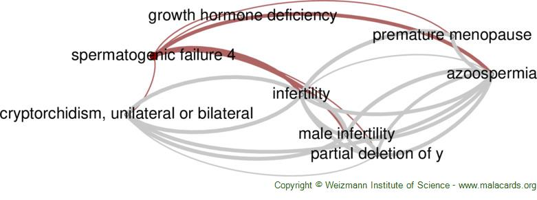 Diseases related to Spermatogenic Failure 4