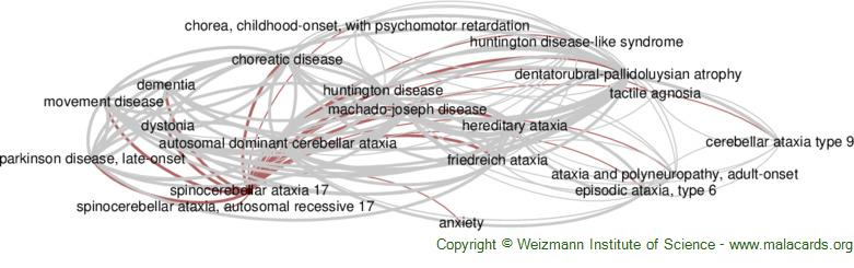 Diseases related to Spinocerebellar Ataxia 17
