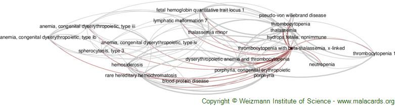 Diseases related to Thrombocytopenia with Beta-Thalassemia, X-Linked