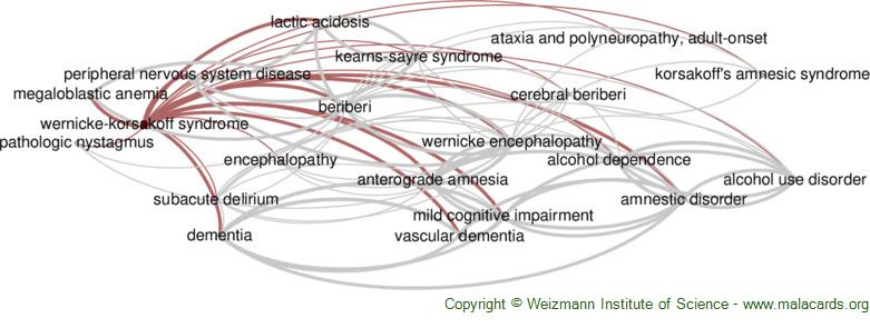 Diseases related to Wernicke-Korsakoff Syndrome